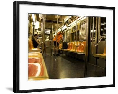 Man Looking At Subway Map.Man Looking At Map On Subway Train Photographic Print By Michelle Bennett Art Com