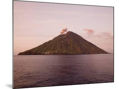 Smoke Coming Out of Stromboli Volcanic Island-Holger Leue-Mounted Photographic Print