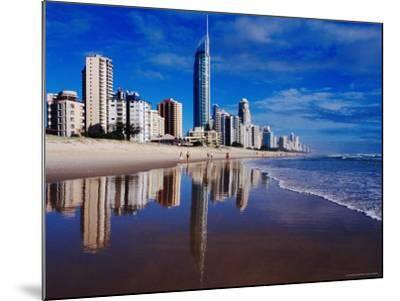 Hi-Rise Apartment Buildings and Surfers Paradise Beach-Richard I'Anson-Mounted Photographic Print