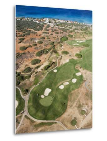 Aerial of Tierra Del Sol Golf Course-Holger Leue-Metal Print