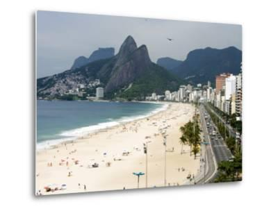 Ipanema Beach from Hotel Fasano Rooftop-Holger Leue-Metal Print