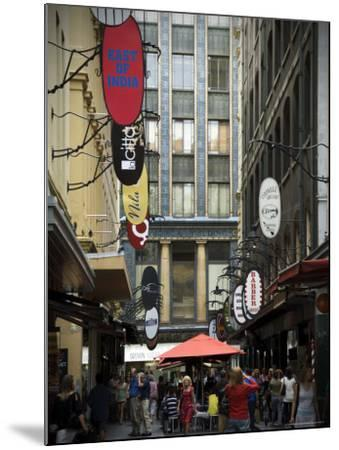 View of Majorca Building and Degraves Street-Glenn Beanland-Mounted Photographic Print