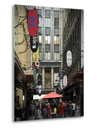 View of Majorca Building and Degraves Street-Glenn Beanland-Metal Print