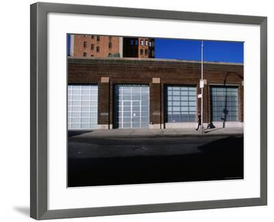 Facade and Entrance of the Gagosian Gallery in Soho-Angus Oborn-Framed Photographic Print