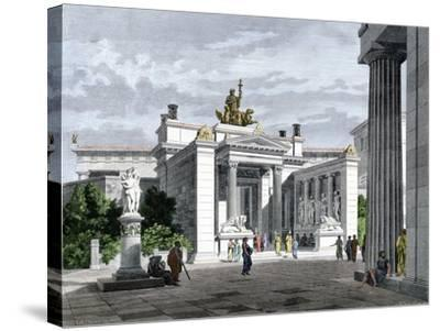 Inner Vestibule, Temple of the Mysteries in Eleusis, Ancient Greece--Stretched Canvas Print