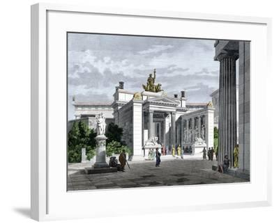 Inner Vestibule, Temple of the Mysteries in Eleusis, Ancient Greece--Framed Giclee Print