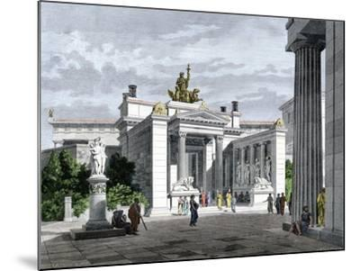 Inner Vestibule, Temple of the Mysteries in Eleusis, Ancient Greece--Mounted Giclee Print