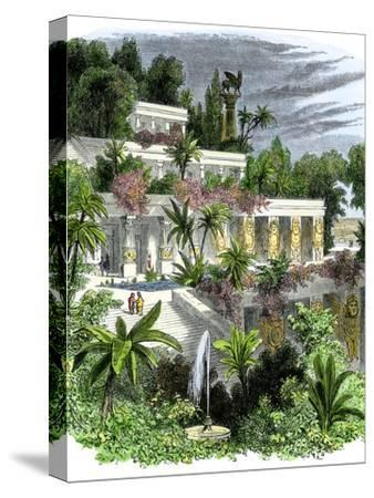 Hanging Gardens of Ancient Babylon--Stretched Canvas Print