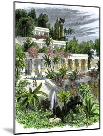Hanging Gardens of Ancient Babylon--Mounted Giclee Print