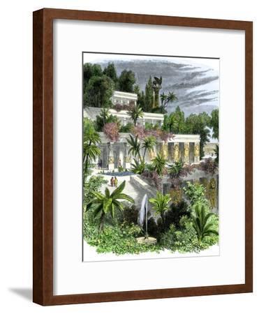 Hanging Gardens of Ancient Babylon--Framed Giclee Print