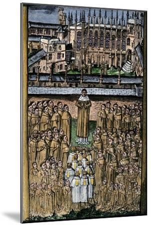 New College, Oxford, and its One Hundred Clerics, c.1453--Mounted Giclee Print