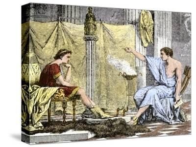 Aristotle Instructing the Young Alexander the Great--Stretched Canvas Print