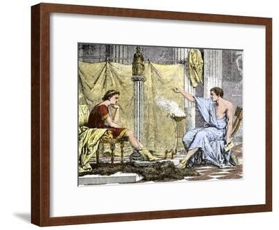 Aristotle Instructing the Young Alexander the Great--Framed Giclee Print