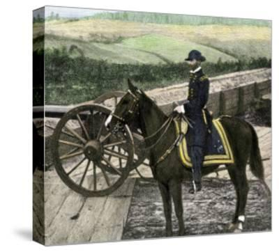 Union General William Sherman at Atlanta, Georgia, During His March to the Sea in 1864--Stretched Canvas Print