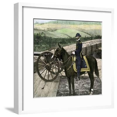 Union General William Sherman at Atlanta, Georgia, During His March to the Sea in 1864--Framed Giclee Print