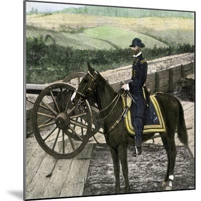 Union General William Sherman at Atlanta, Georgia, During His March to the Sea in 1864--Mounted Giclee Print