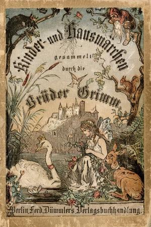 Cover of Brothers' Grimm Tales from a German Edition Published in Berlin, 1865--Stretched Canvas Print