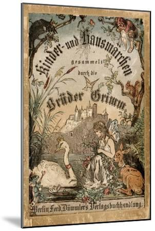 Cover of Brothers' Grimm Tales from a German Edition Published in Berlin, 1865--Mounted Premium Giclee Print
