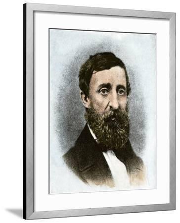 Henry David Thoreau at Age 43--Framed Giclee Print