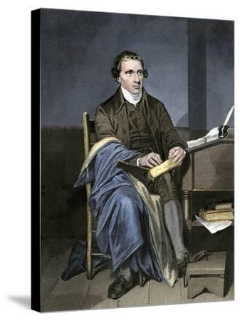 Patrick Henry Writing--Stretched Canvas Print