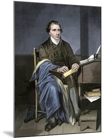 Patrick Henry Writing--Mounted Giclee Print