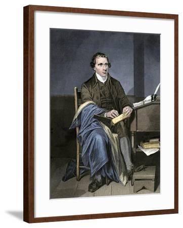 Patrick Henry Writing--Framed Giclee Print