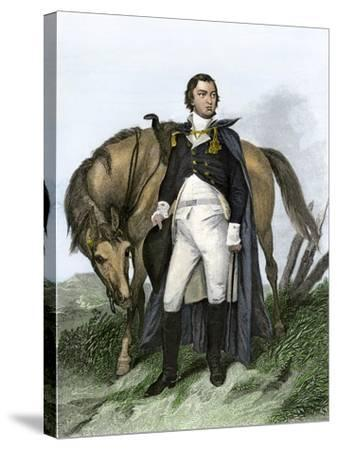 American General Nathanael Greene Beside His Horse--Stretched Canvas Print