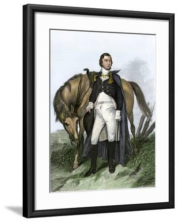American General Nathanael Greene Beside His Horse--Framed Giclee Print