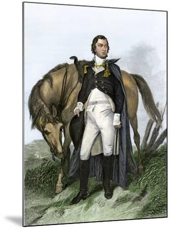 American General Nathanael Greene Beside His Horse--Mounted Giclee Print