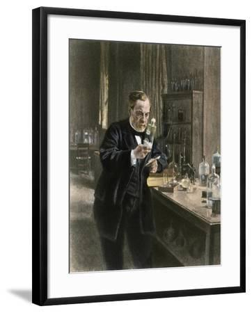 Louis Pasteur in His Laboratory--Framed Giclee Print