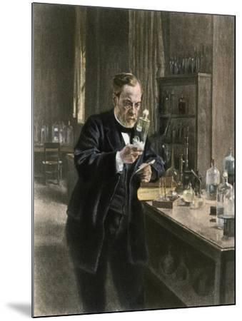 Louis Pasteur in His Laboratory--Mounted Giclee Print
