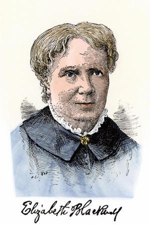 Elizabeth Blackwell, First Women Physician in Modern Times, with Her Autograph--Stretched Canvas Print