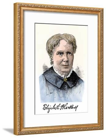 Elizabeth Blackwell, First Women Physician in Modern Times, with Her Autograph--Framed Giclee Print