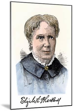 Elizabeth Blackwell, First Women Physician in Modern Times, with Her Autograph--Mounted Giclee Print