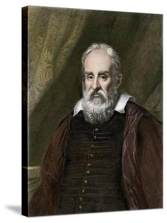 Galileo Galilei, Astronomer--Stretched Canvas Print