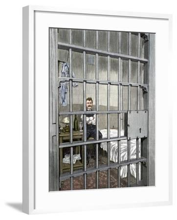 Anarchist August Spies in His Cell after the Haymarket Riot, Chicago, 1887--Framed Giclee Print