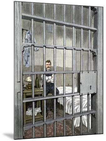 Anarchist August Spies in His Cell after the Haymarket Riot, Chicago, 1887--Mounted Giclee Print