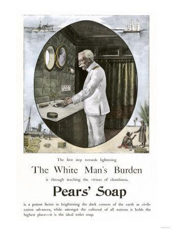 White Man's Burden Is to Teach Cleanliness--Framed Giclee Print