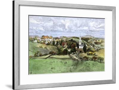 Village of New Boston, New Hampshire, in the 1800s--Framed Giclee Print