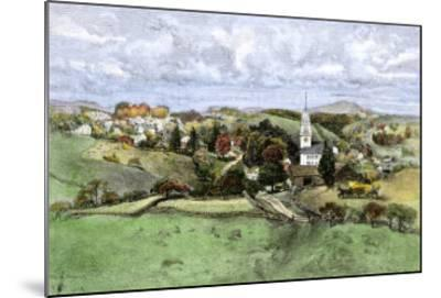 Village of New Boston, New Hampshire, in the 1800s--Mounted Giclee Print