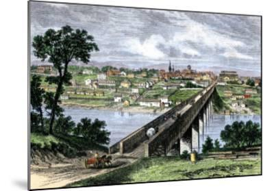 Bridge across the Tennessee River at Knoxville, 1870s--Mounted Giclee Print