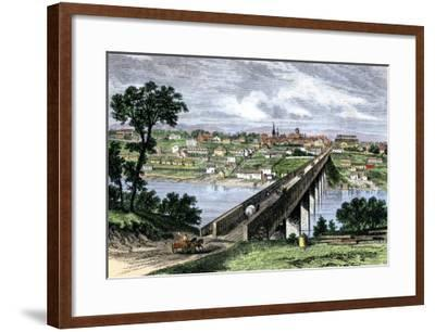 Bridge across the Tennessee River at Knoxville, 1870s--Framed Giclee Print