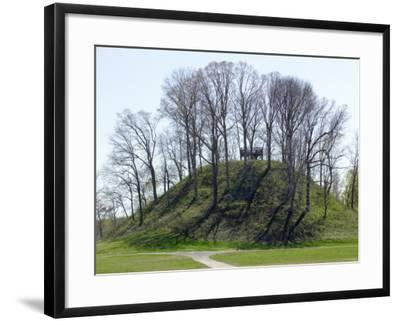 Saul's Mound, 72 Feet High, Largest Middle Woodland Mound Group in the U.S., Tennessee--Framed Premium Photographic Print