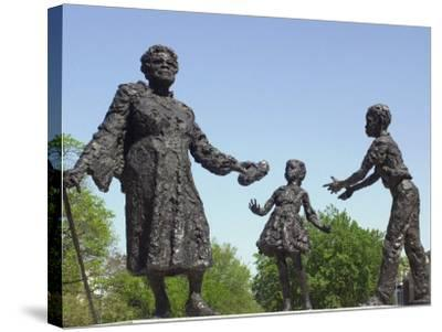 Statue of Mary Mcleod Bethune and African-American Children, Lincoln Park, Washington DC--Stretched Canvas Print