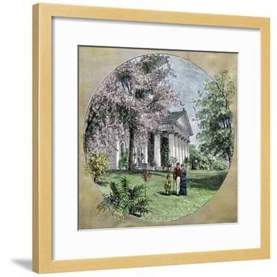 Arlington House, Residence of Robert E. Lee before the Civil War, Virginia--Framed Giclee Print