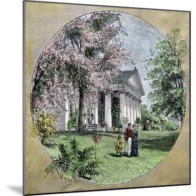 Arlington House, Residence of Robert E. Lee before the Civil War, Virginia--Mounted Giclee Print