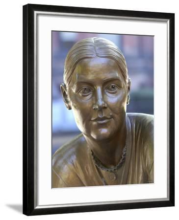 Lucy Stone Statue, Boston Women's Memorial--Framed Premium Photographic Print