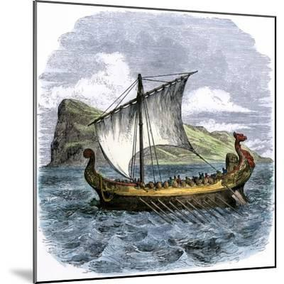 Phoenician Galley Passing the Rock of Gibraltar--Mounted Giclee Print