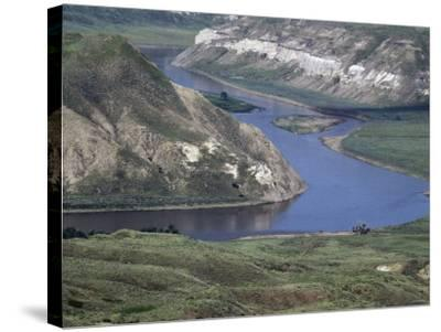 Missouri River in the White Cliffs Backcountry, Described by Lewis and Clark--Stretched Canvas Print