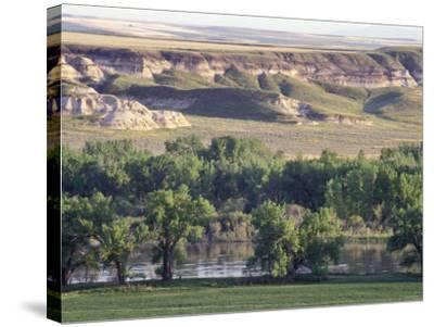 Missouri River at Coalbanks Landing, a Lewis and Clark Campsite in Montana--Stretched Canvas Print